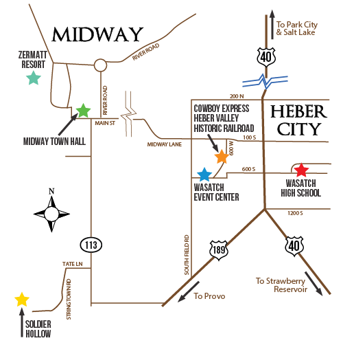 Area Map Heber Valley Cowboy Poetry