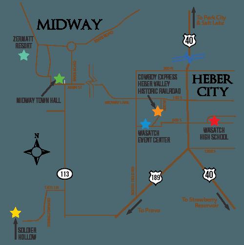 Area Map - Heber Valley Cowboy Poetry Zermatt Resort Map on